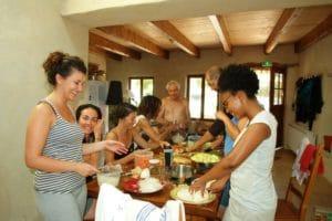 les repas des retraites de yoga